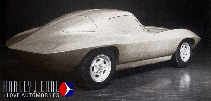 Corvette clay model.
