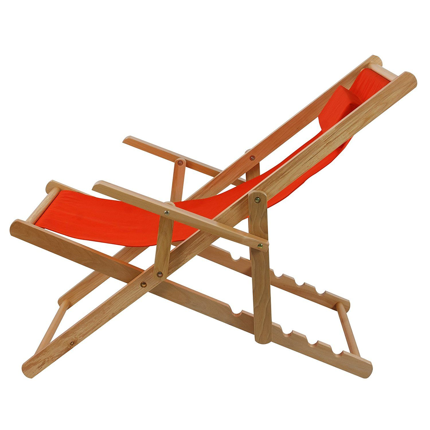 Casual home adjustable sling chair natural