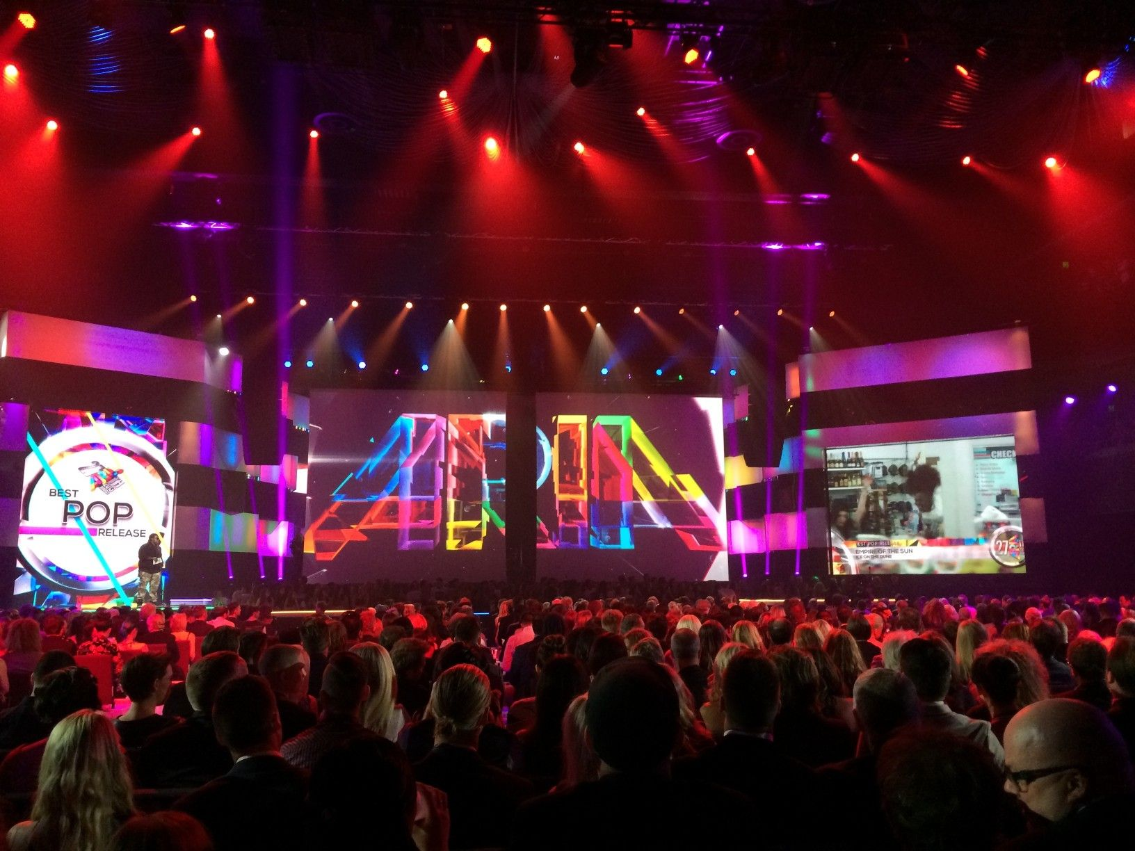 Technical Direction Company Tdc Provides The Perfect Video Backdrop For 27th Aria Awards Video Backdrops Perfect Gif Alpha Video