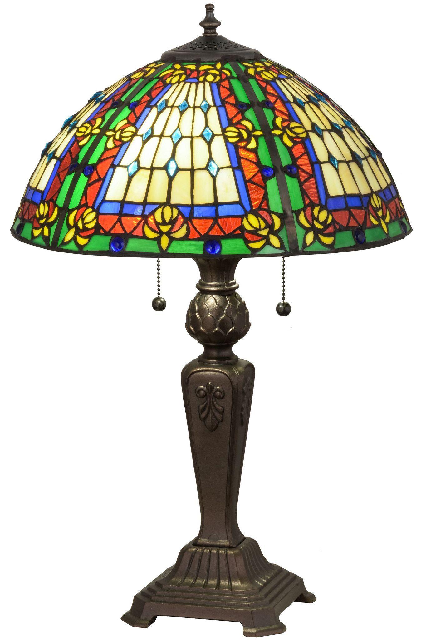245h stained glass fleur de lis table lamp products 245h fleur de lis table lamp geotapseo Gallery