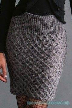Взрослые вязаные юбки
