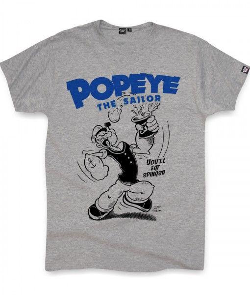 Popeye Original Cartoon Rétro Adulte Homme à manches courtes coton blanc t shirt top
