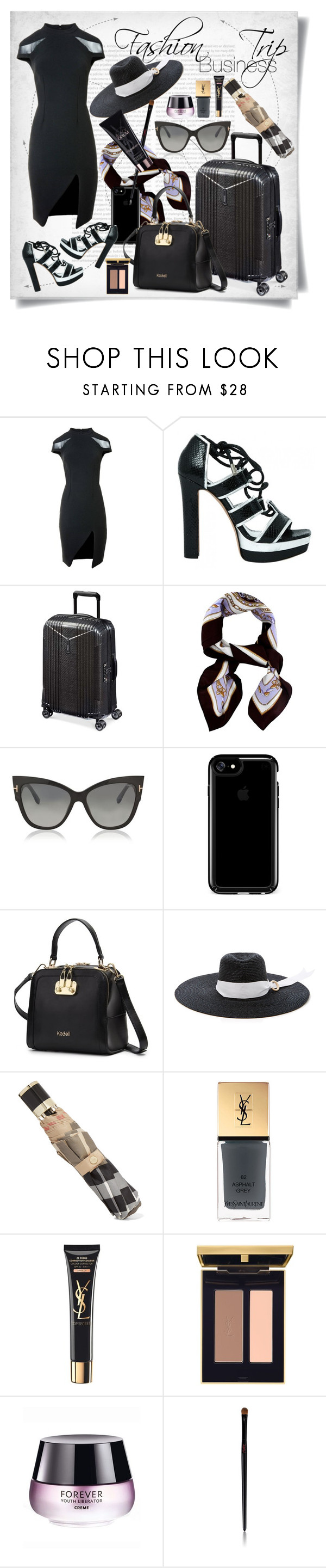 """""""Fashion Business Trip"""" by imbeauty ❤ liked on Polyvore featuring Sinclair London, Alexander McQueen, Hartmann, Tom Ford, Speck, Littledoe, Burberry, Yves Saint Laurent and BusinessTrip"""