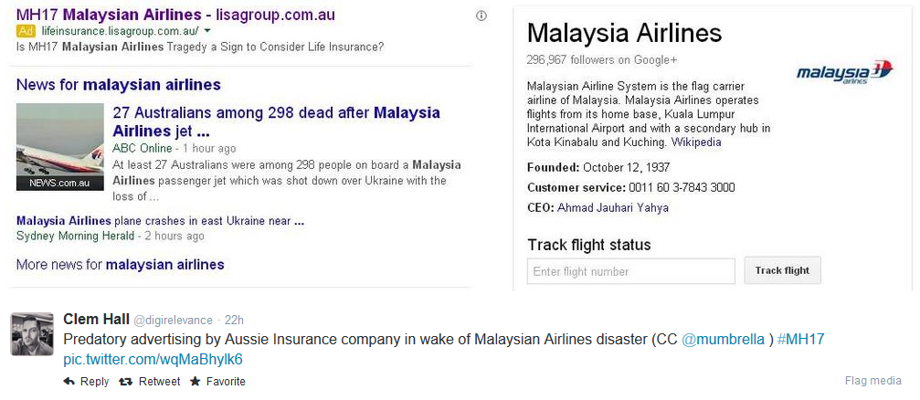 Life Insurance Company Advertises On Malaysian Airlines On Adwords Life Insurance Companies Malaysian Airlines