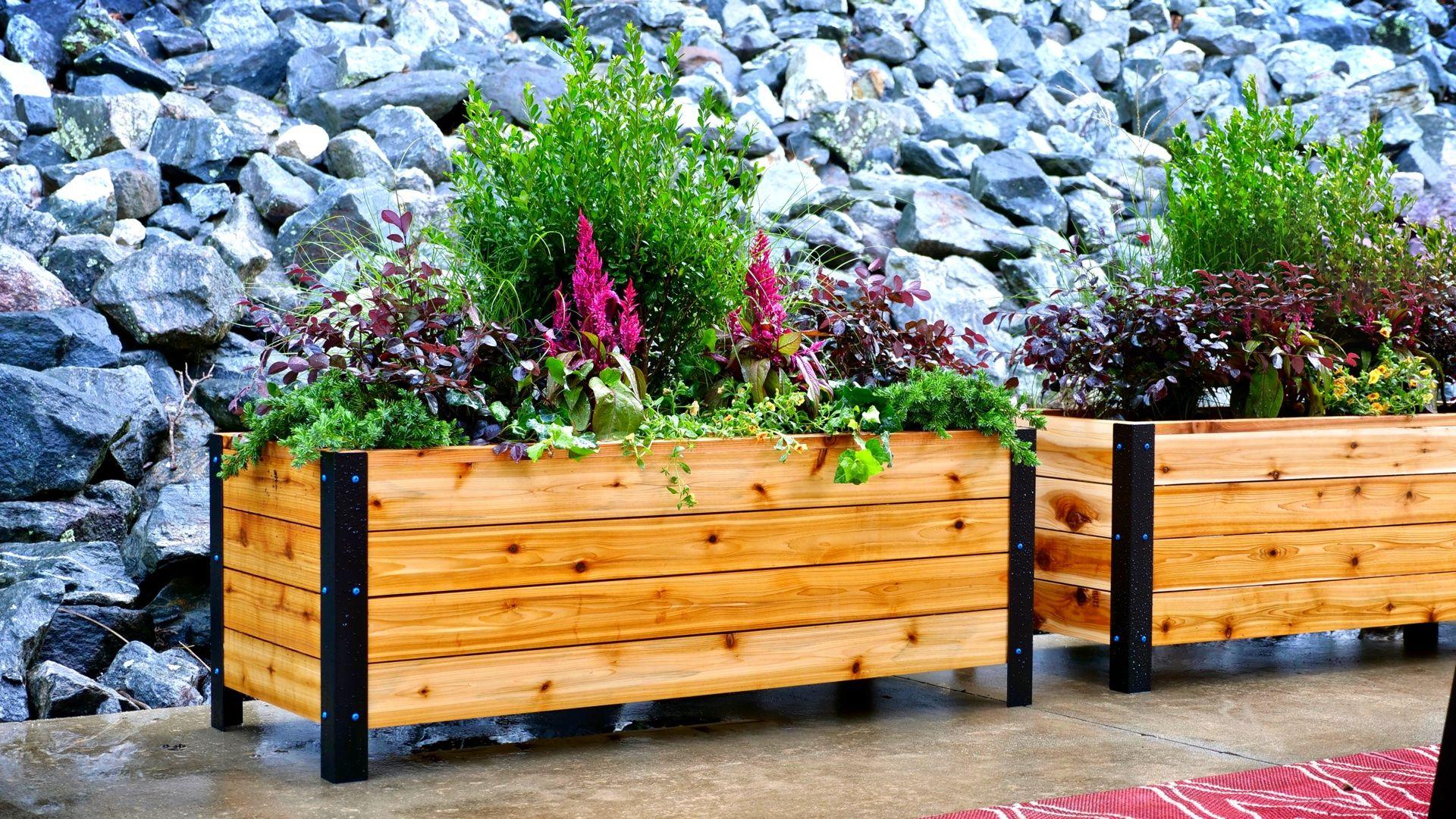 How To Build A DIY Modern Raised Planter Box Raised