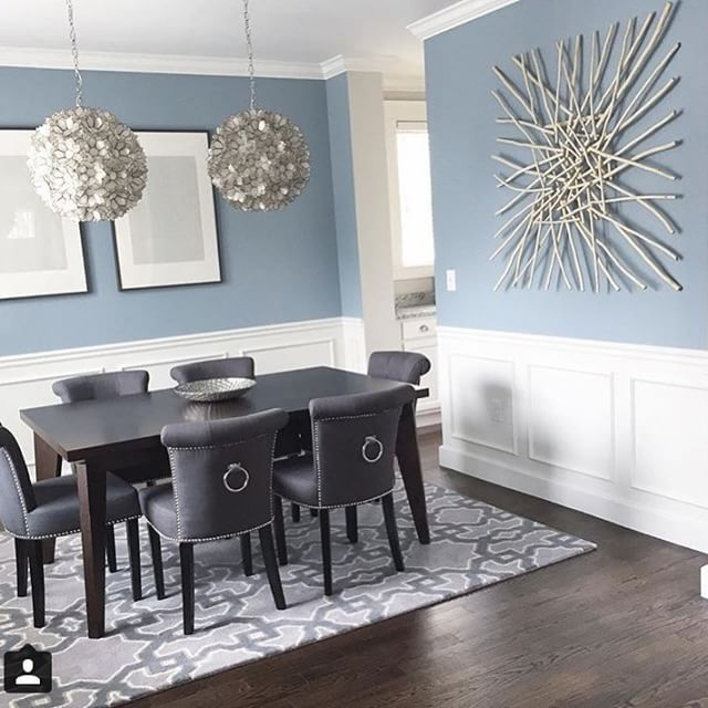 25 Blue Dining Room Designs Decorating Ideas: Dining Room Designed By @ginabaran. #IDCDesigners