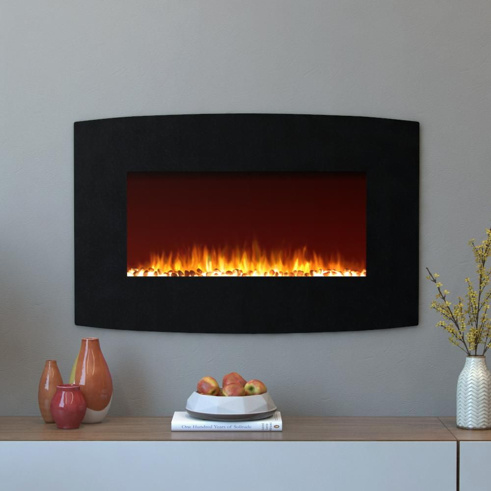 Curved Electric Fireplace Moda Flame Chelsea 35 In Curved Wall Mounted Electric Fireplace