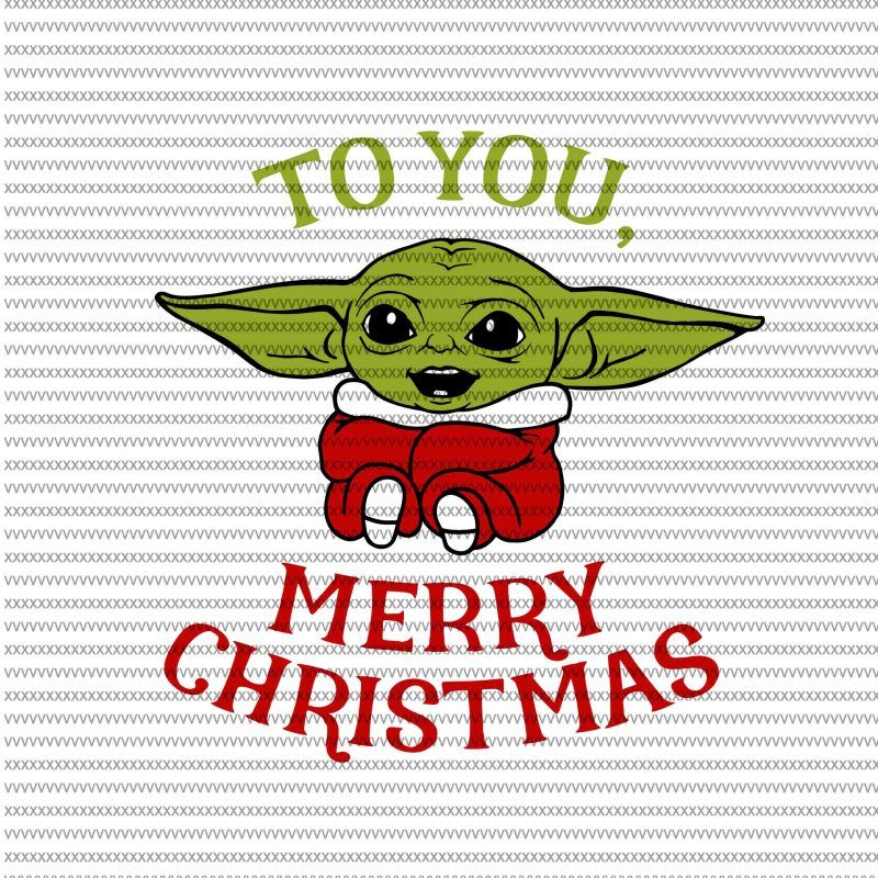 293 Baby Yoda Christmas Svg