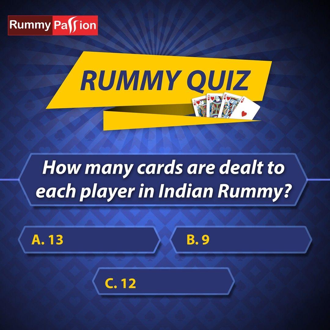 Rummy Quiz in 2020 Rummy, Rummy rules, Rummy online