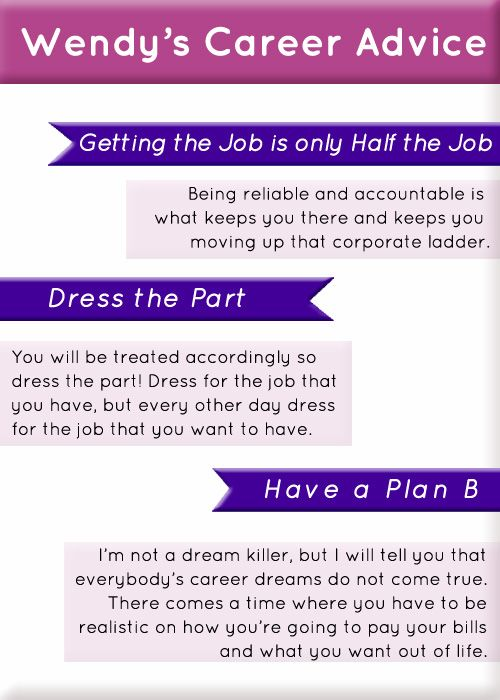 career advice from the lovely fabulous wendy williams    x