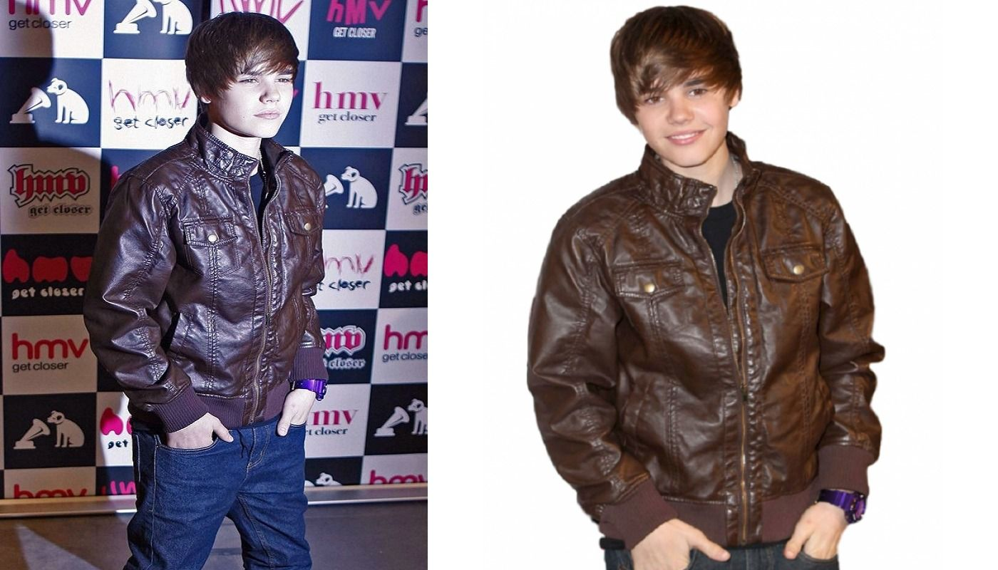 Justin Bieber Bomber Style Brown Leather Jacket Jackets Brown Jacket Leather Bomber Jacket [ 800 x 1400 Pixel ]