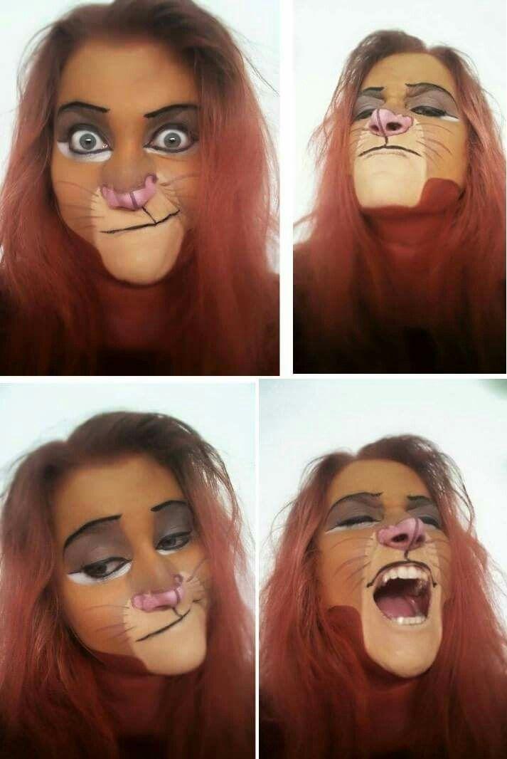 Simba Face Paint Lion King Costumes Halloween Makeup Halloween