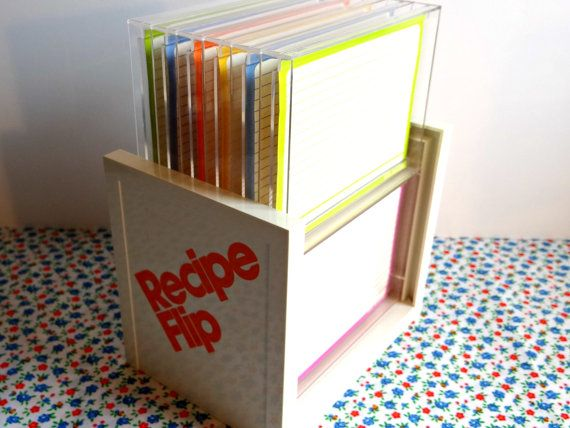 Vintage Retro Flip Recipe Card Holder-1970s by TimelessTreasuresbyM on Etsy