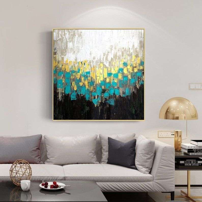 Abstract Colorful Original Acrylic Painting On Canvas Extra Large Wall Art Dinning Room Pictures Decor Cuadros Abstractos For Living Room Cuadro Abstractos Pinturas Abstractas Pintura Acrilica Sobre Lienzo #paintings #with #frame #for #living #room
