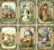 Vintage Easter antique pictures chicks note cards tags with envelopes
