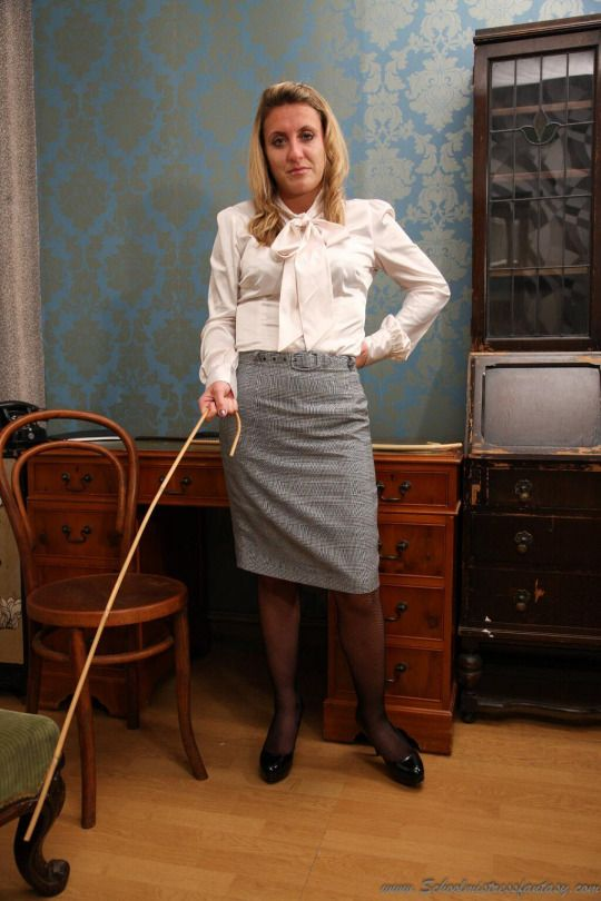 See leather skirt spanked about