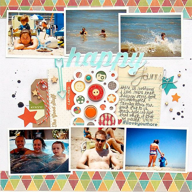 $100 A Day Creativity Contest - Winner #1 : Layout: Happy Family