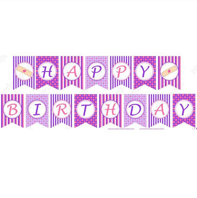 doc mcstuffins inspired printable happy birthday banner doc