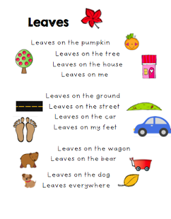 The Very Busy Kindergarten: Leaves Poem Free | October ...