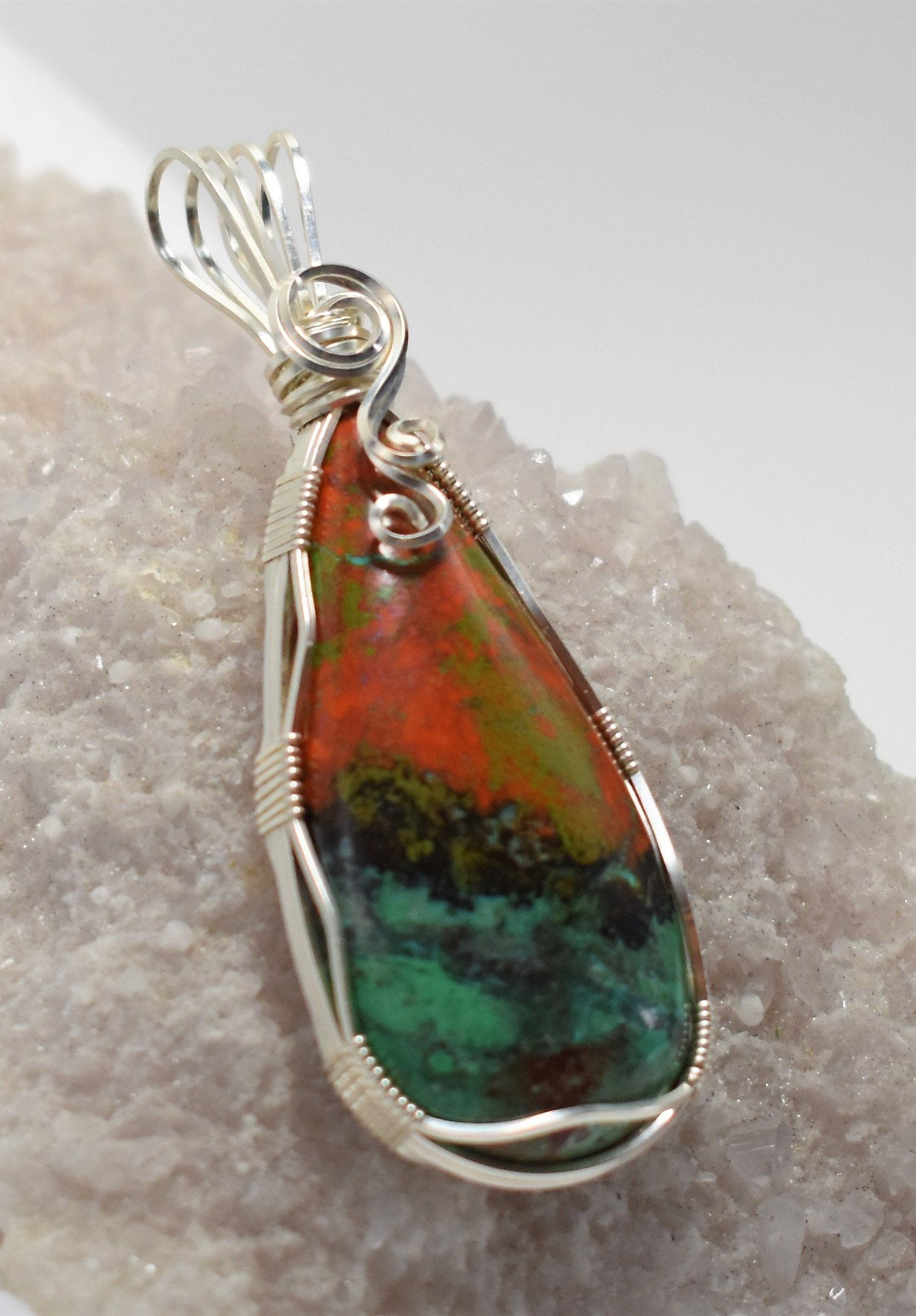 Gorgeous sonora sunrise wire wrapped pendant wrapped in 925 gorgeous sonora sunrise wire wrapped pendant wrapped in 925 sterling silver aloadofball Choice Image