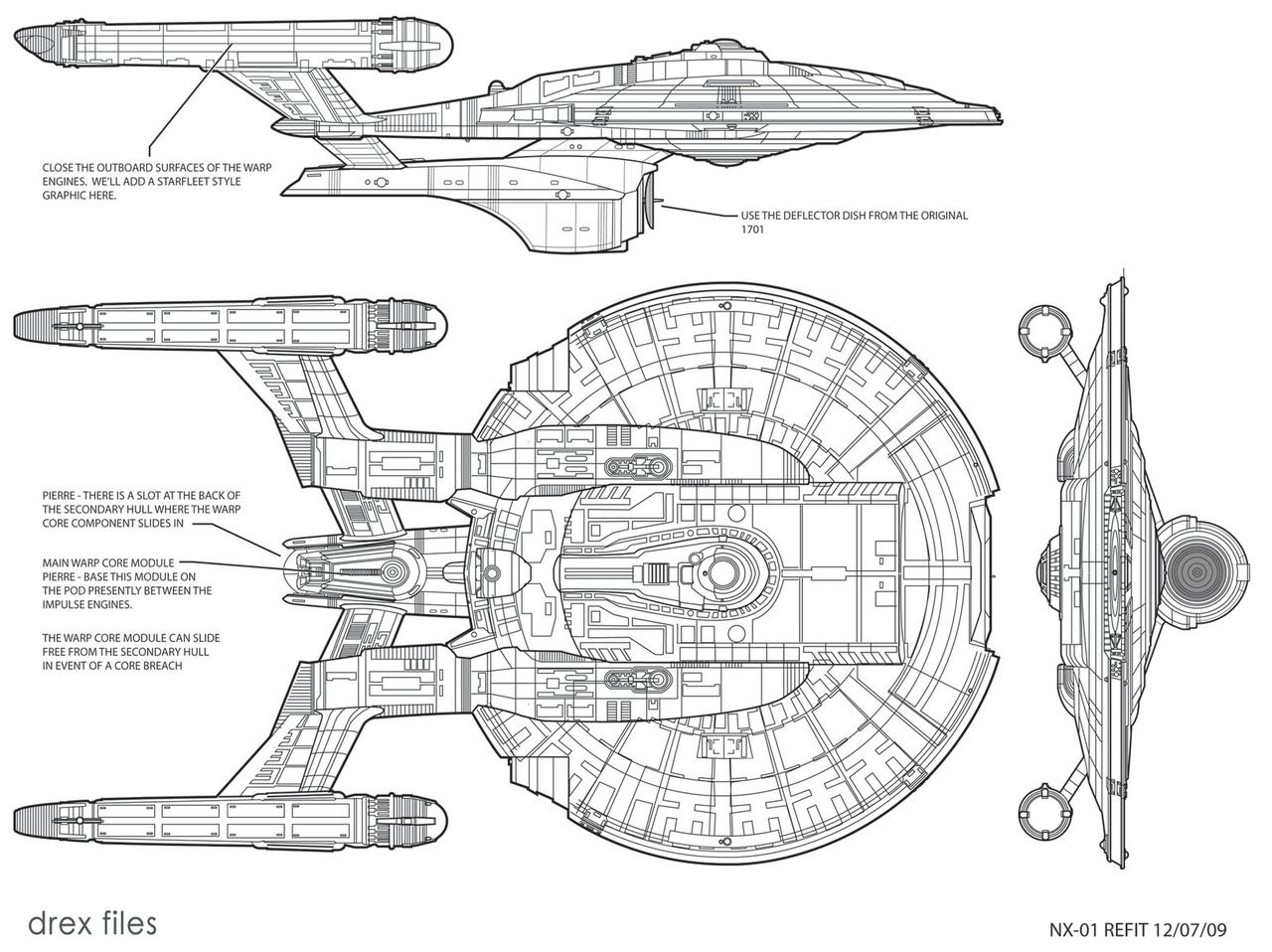 Schematic For The Nx Class Refit