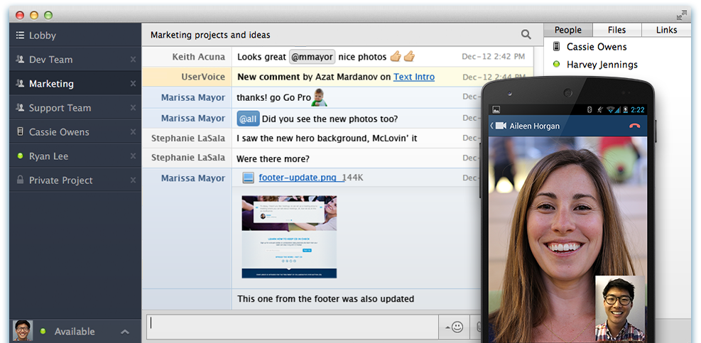 HipChat video chat built for teams Information