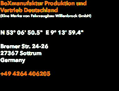 boxmanufaktur produktion und vertrieb deutschland eine marke von fahrzeugbau willenbrock gmbh