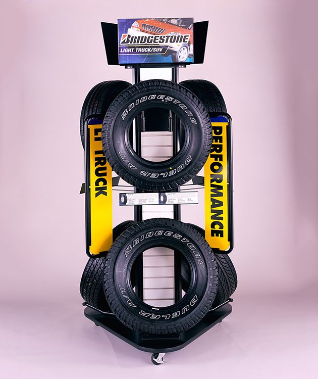 Really Cool Tire Display By FHC Marketing Crafty Pinterest Magnificent Tire Display Stands