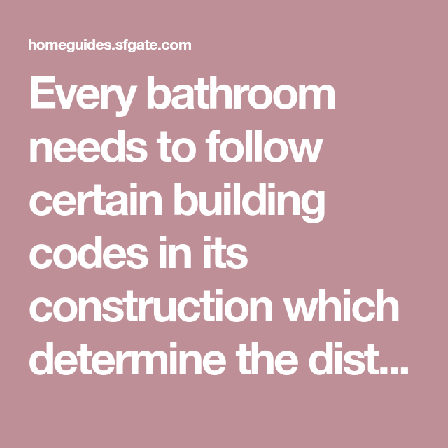 Dimensions And Building Regulations For A Small Bathroom With