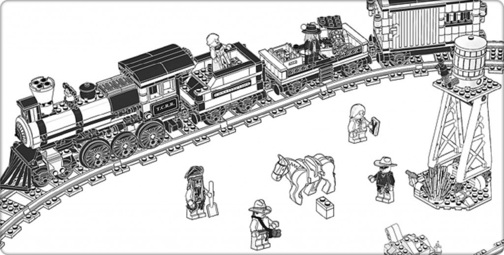 lego lone ranger coloring pages