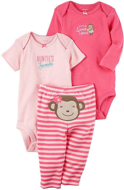 19f8d7cd2 Shop Carter's Little Baby Basics newborn clothing for all your baby's  needs. Carter's Little Baby Basics Girl Turn-Me-Around Set