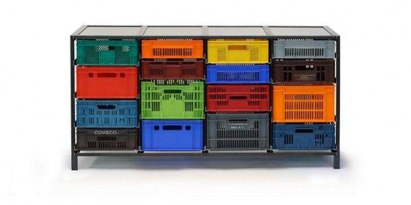 Meuble Acier Caisses Plastique Caisse Plastique Cagette Plastique Boite Rangement Plastique
