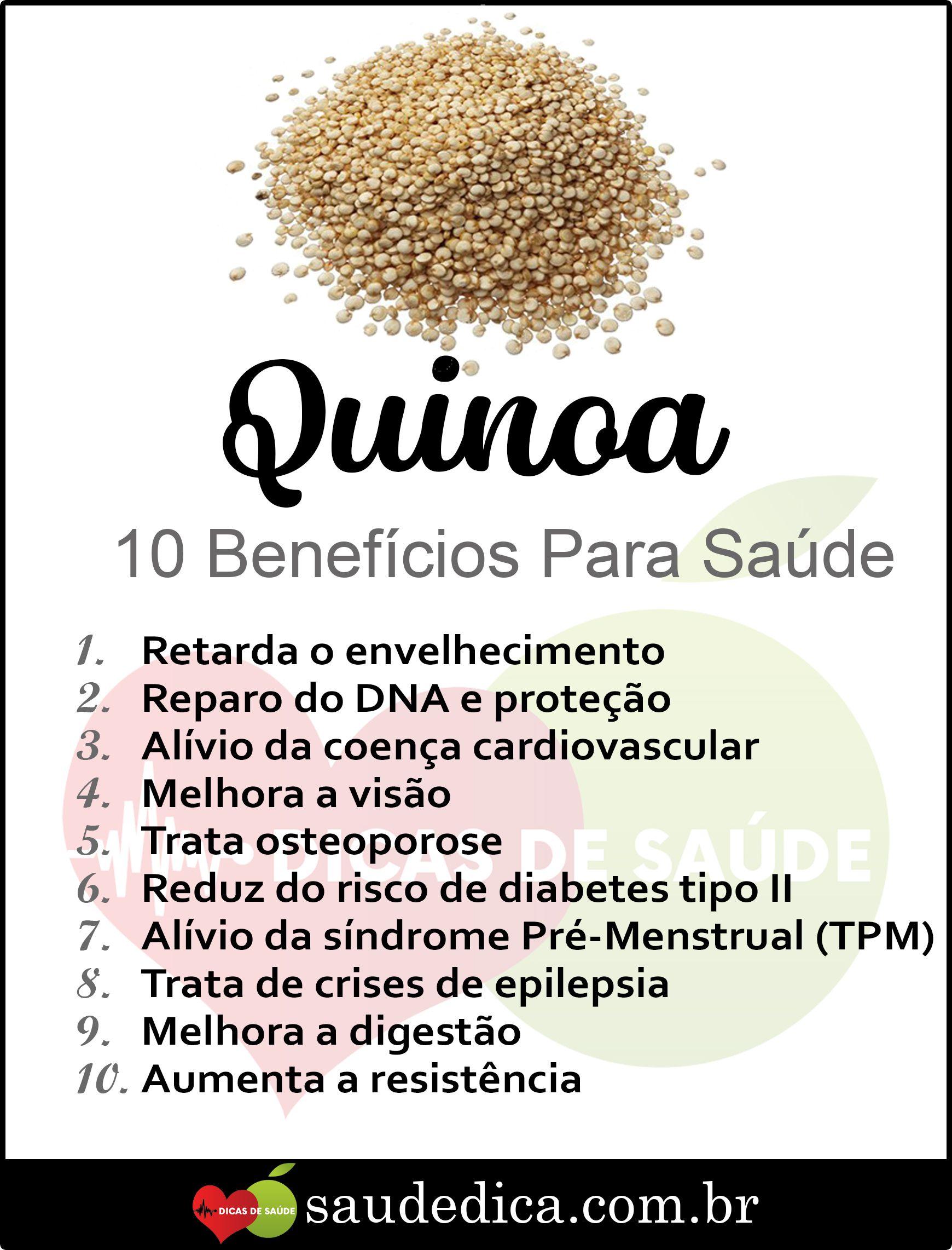 Pin De Jeilza Marinho Em Dicas Beneficios Da Quinoa Alimentacao