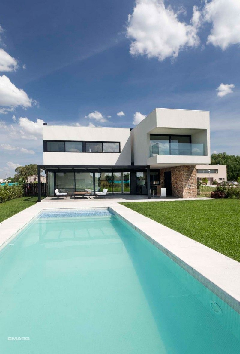 Dise o de interiores arquitectura moderna residencia en for Casa moderna tunisie