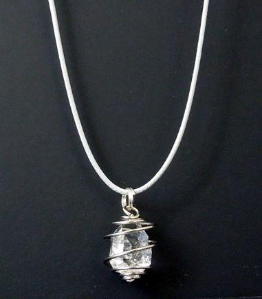 Clear herkimer diamond spiral pendant herkimer diamonds and other clear herkimer diamond spiral pendant aloadofball Gallery