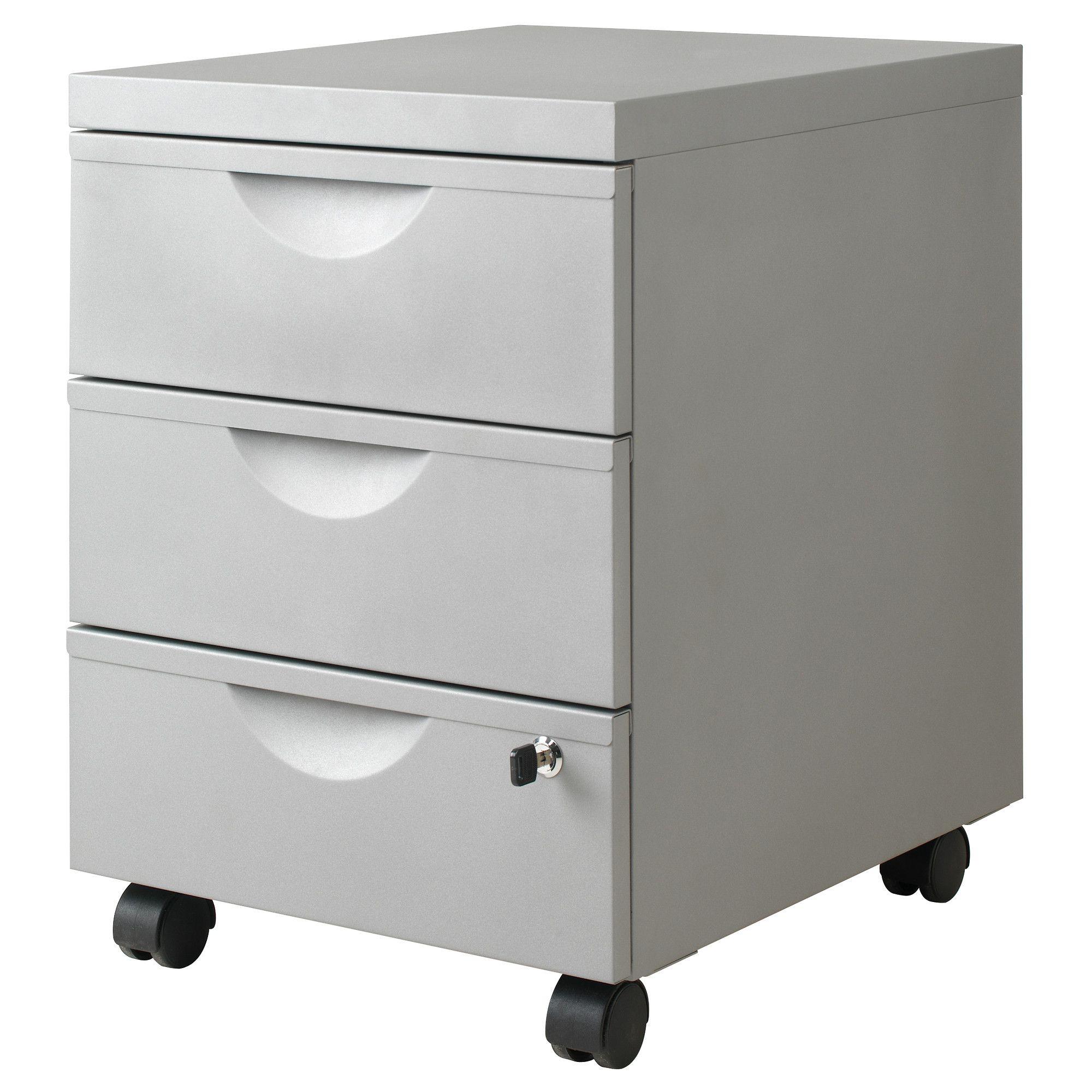 ERIK Drawer Unit W 3 Drawers On Casters   IKEA. Epoxy Coated Steel. Width