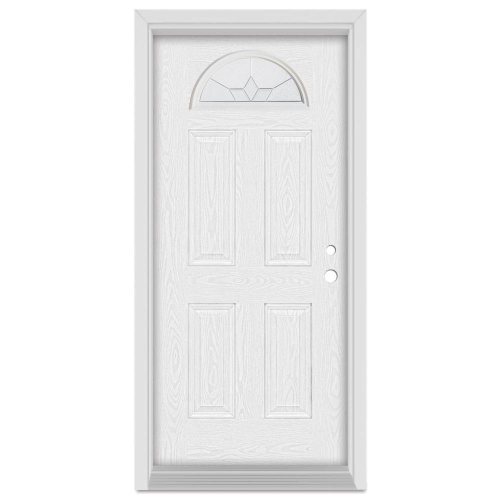 Stanley Doors 32 In X 80 In Geometric Right Hand Half Moon