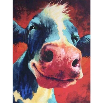 5d Diamond Painting Cattle Head Paint With Diamonds Art Crystal Craft Decor In 2020 Cow Painting Cow Art Farm Art