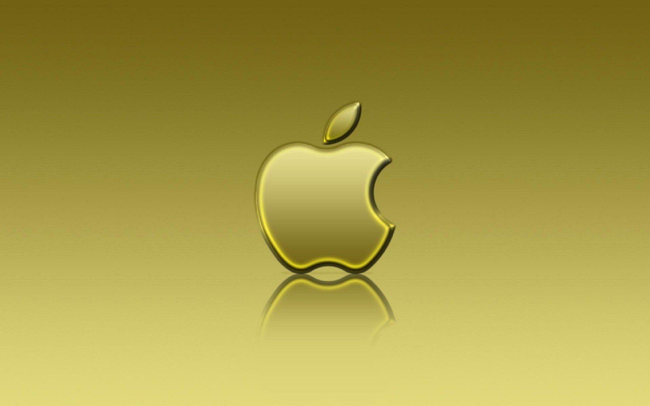 Wallpaper Wooden Apple Logo
