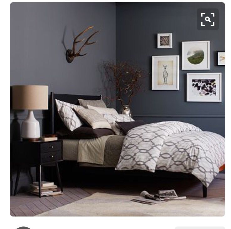 Best Bedroom With Blue Grey Walls And White Trim Home Decor Bedroom Bedroom Color Schemes Master 400 x 300
