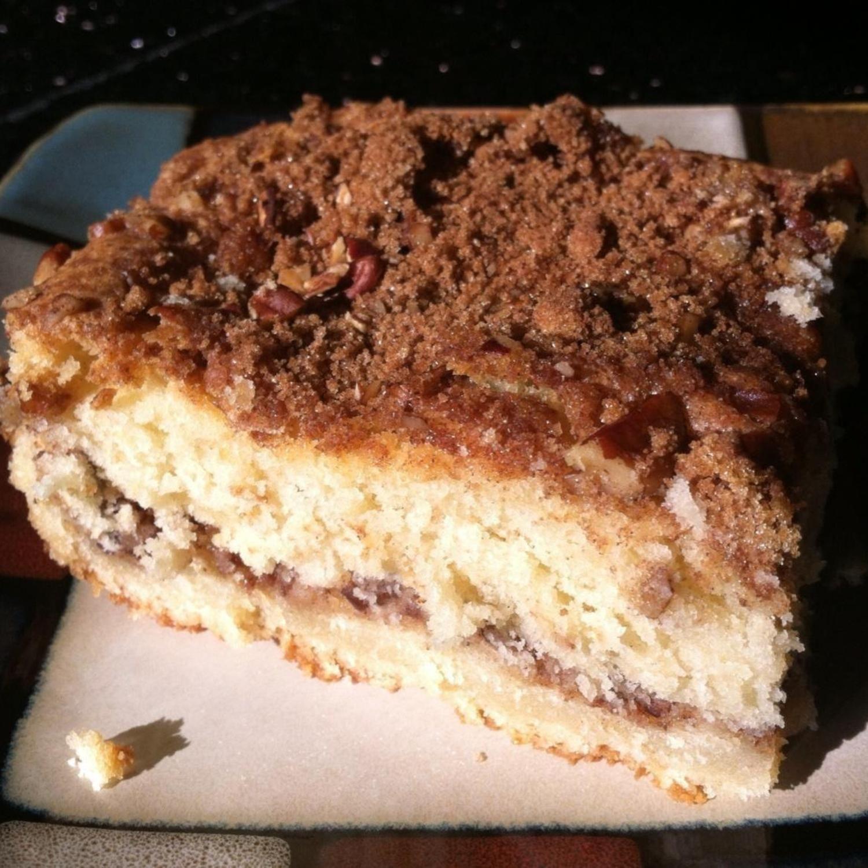 Mom S Sour Cream Coffee Cake Recipe Sour Cream Coffee Cake Coffee Cake Recipes Coffee Cake