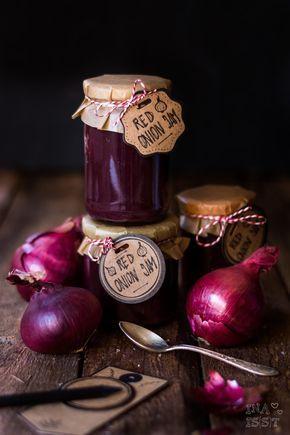 Onion Jam Zwiebelmarmelade l Geschenke aus der Küche l Marmelade selber kochen l Red Onien Jam