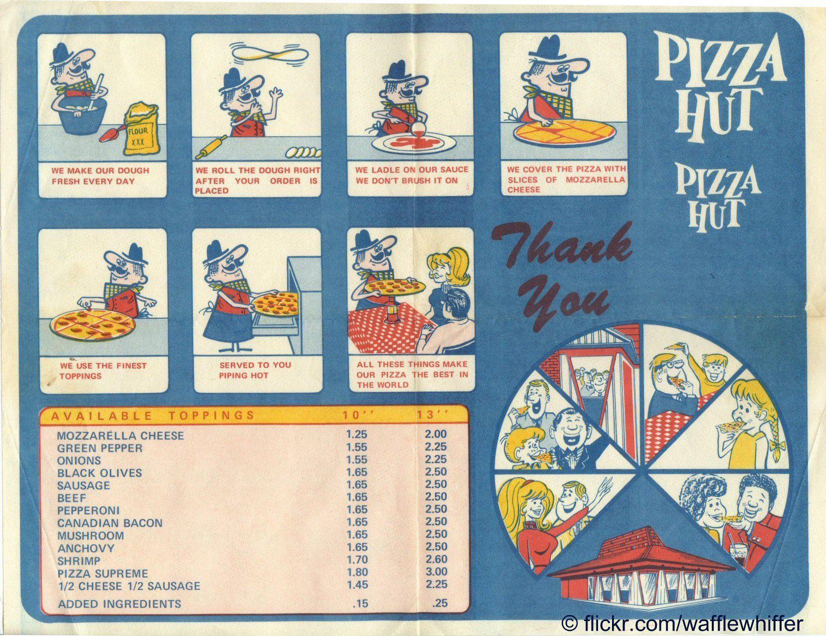 Vintage Pizza Hut placemat | Vintage Fast Food | Pinterest ...