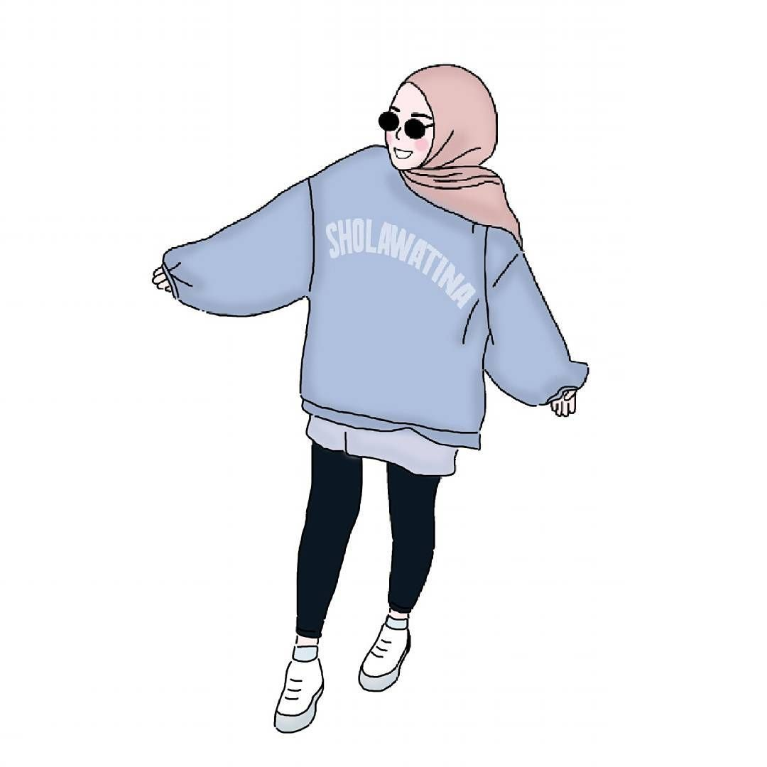Wallpaper Tumblr Hijab Kartun