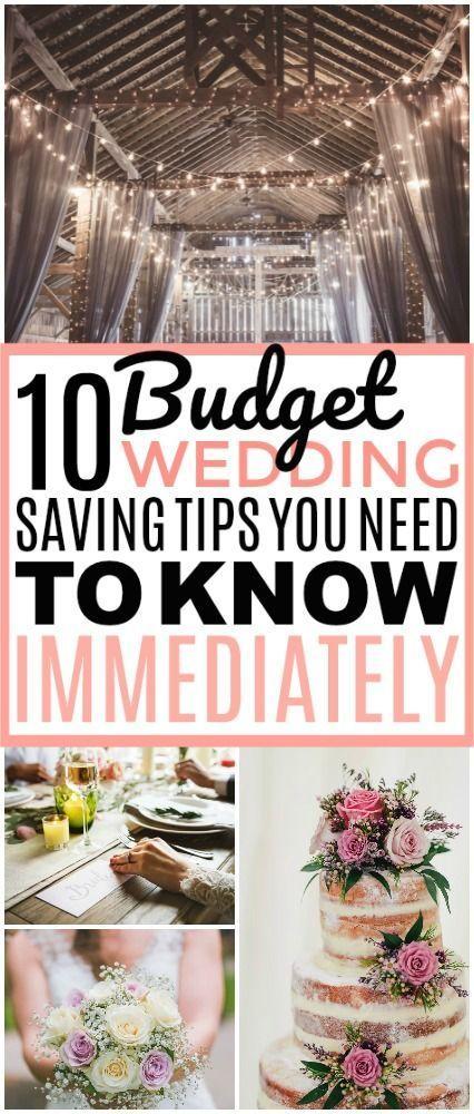 10 brillante Ideen für Ihre schöne Budget-Hochzeit #weddingonabudget