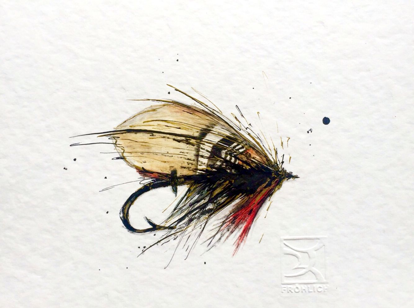 Fly Fishing Watercolor Lorena Frohlich Mohr Fly Fishing Art Fly