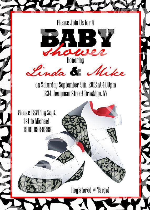 a691e86222b Printable Jordan Jumpman Inspired Baby Shower by LovinglyMine, $20.00