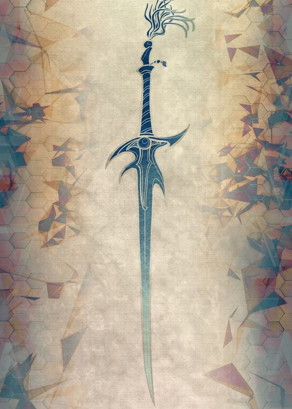 Final Fantasy Character Weapons Displate Posters