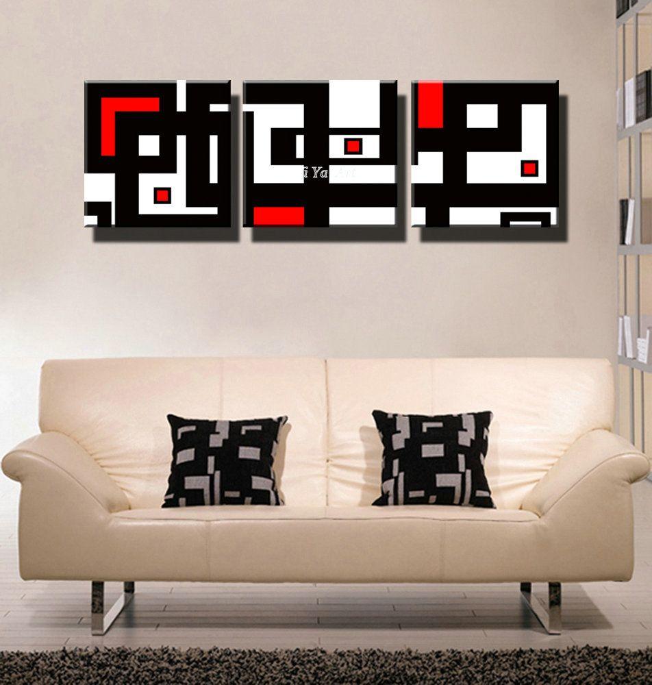 Resultado de imagen para decoracion cuadros modernos rojo - Decoracion de cuadros ...