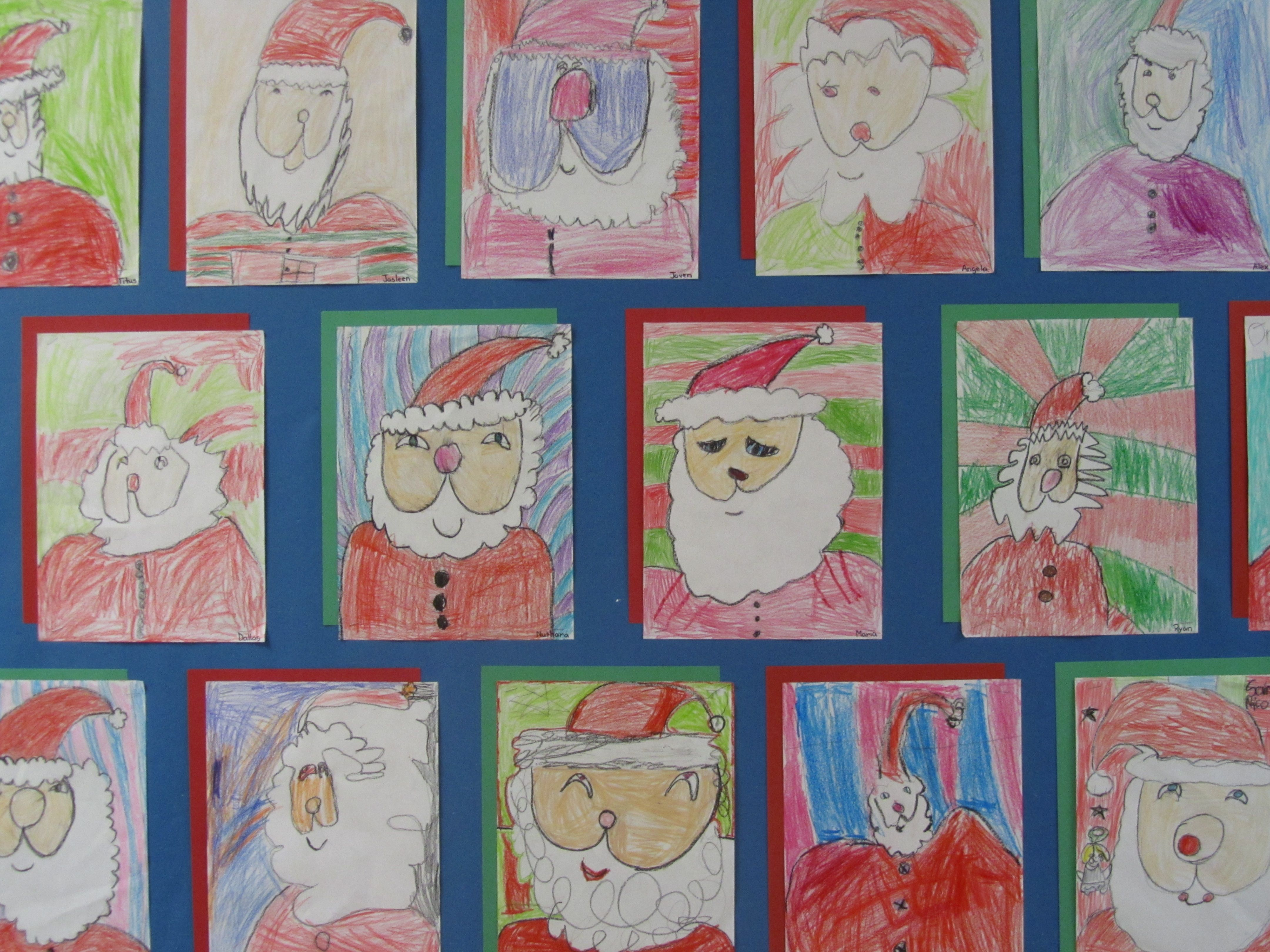 Grade 1 Guided Drawing Of Santa